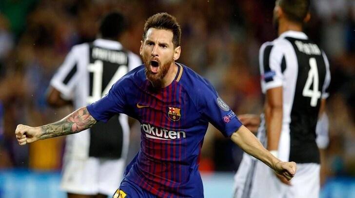 Juventus, che imBarçata. Doppio Messi e Rakitic: 3-0 per il Barcellona