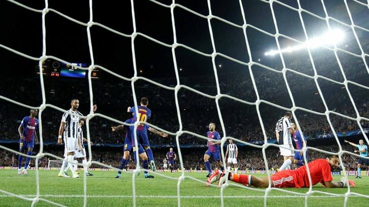Champions League: Juve giù con il Barça, il primato sale a 6,00