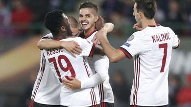 Europa League: Milan travolgente, il trofeo scende a 6,50