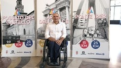 Haki Doku con la sedia a rotelle tra i 4000 della Salomon Running Milano