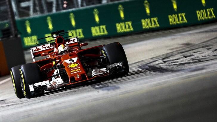 F1, Singapore: Vettel, che pole! Quarto Raikkonen