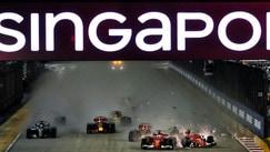 Singapore Gp, le immagini dello scontro tra Vettel, Raikkonen e Verstappen