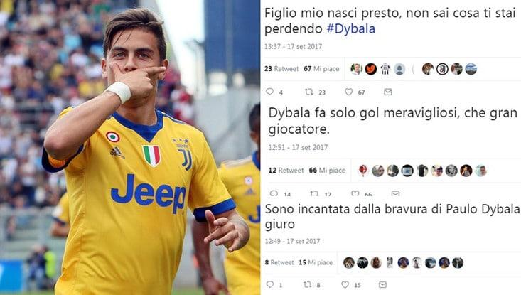 Dybala da impazzire: i tifosi della Juventus celebrano la Joya