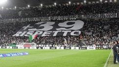 Juventus-Fiorentina,l'Allianz Stadium ricorda le vittime dell'Heysel