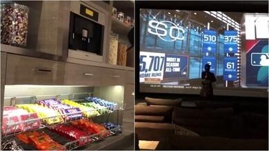 Benvenuti in casa Mayweather: schermo gigantesco e una dispensa piena di snack