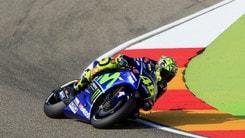 MotoGp, Aragon: Rossi vola, il colpo a 7,50