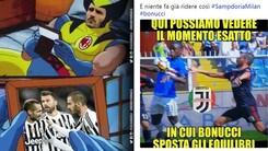 Il Milan affonda 0-2 contro la Sampdoria: quante ironie su Bonucci!