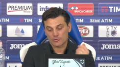 Montella amaro: «Bonucci?  Chi perde ha sempre torto...»