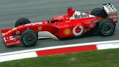 La Ferrari F2001 di Schumacher va all'asta per 4 milioni di euro