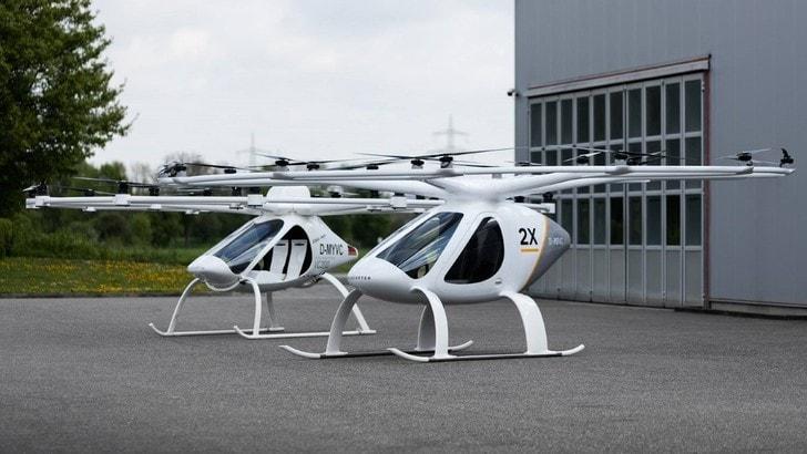 Il primo eli-taxi senza pilota si chiama Volocopter