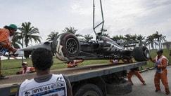 Gp Malesia, un tombino causa l'incidente di Grosjean