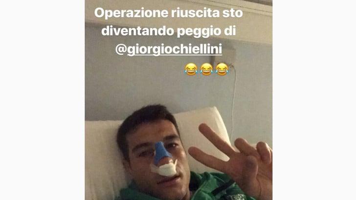 Sassuolo, Peluso operato dopo l'infortunio al naso: «Peggio di Chiellini»