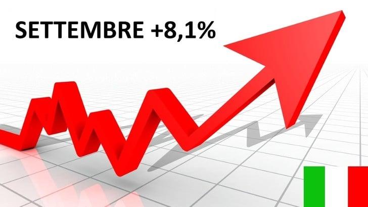 Mercato auto Italia, a settembre cresce dell'8,1%
