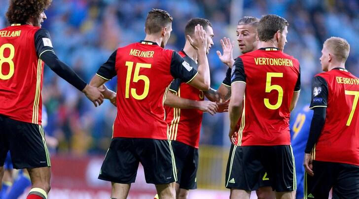 Russia 2018, il Belgio vince in Bosnia e manda l'Italia ai playoff