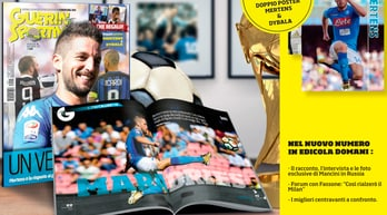 Guerin Sportivo in edicola con i poster di Mertens e Dybala