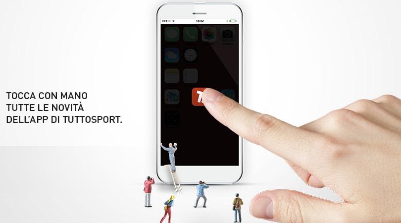 E' disponibile da oggi la nuova App di Tuttosport.com
