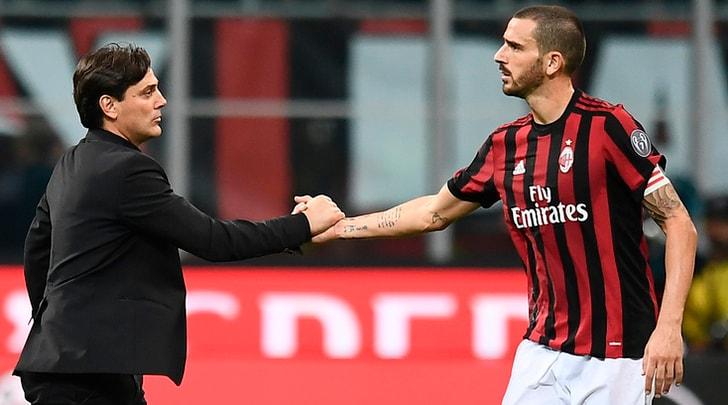 Milan, Montella: «Non ci pentiremo mai di aver preso Bonucci»