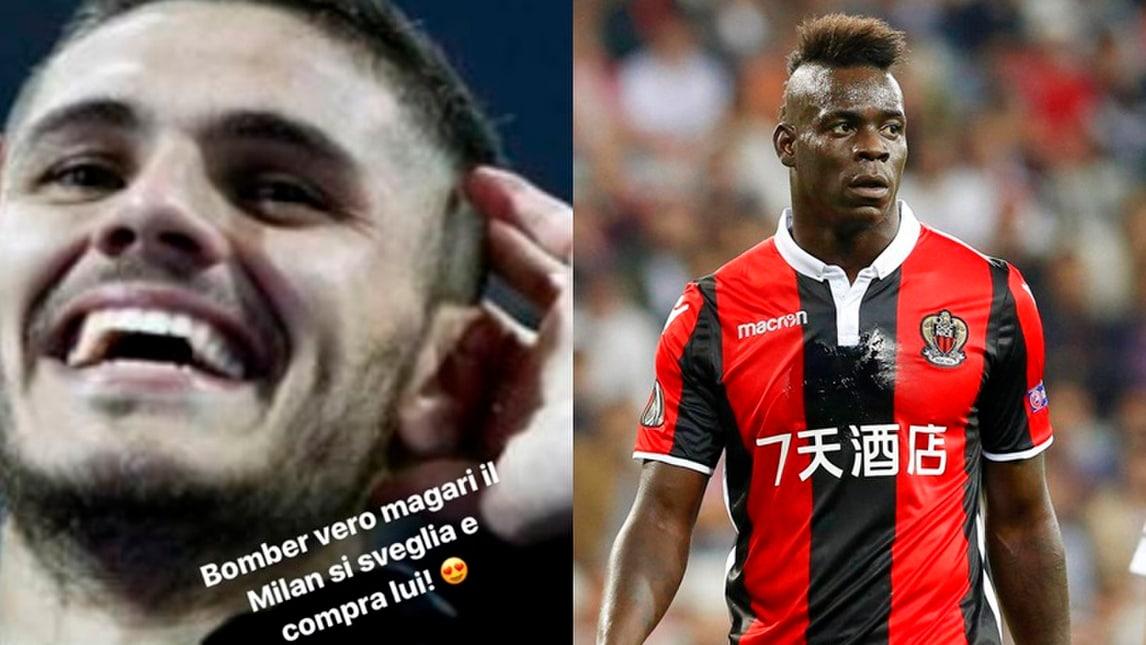 Balotelli, complimenti a Icardi e frecciata al Milan: «Comprate lui!»