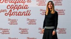 Ambra Angiolini, look bianconero