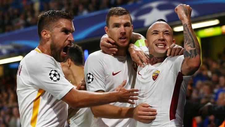 Champions League, Chelsea-Roma 3-3: Dzeko-show, un punto d'oro