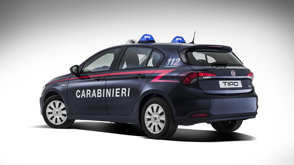 Anche la Fiat Tipo entra nell'Arma dei Carabinieri