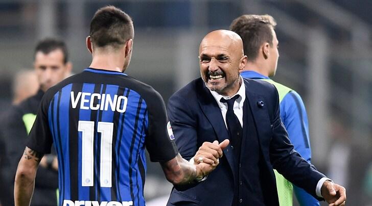 Inter, Spalletti: «Per lo scudetto bisogna arrivare davanti alla Juventus. Ed è tosta»
