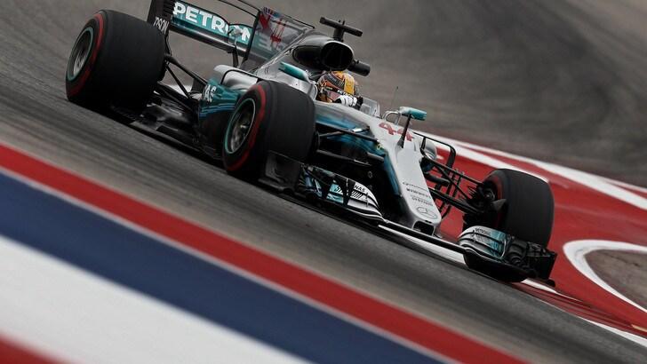 F1 Usa: Hamilton guida anche le terze libere, Vettel 2°