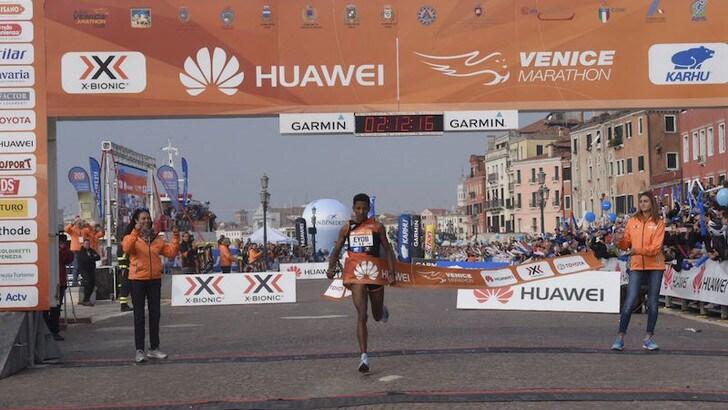 32^ Huawei Venicemarathon: vince Eyob Faniel