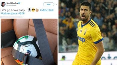 Juventus, Khedira si porta a casa il pallone dopo la tripletta