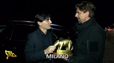Tapiro d'oro a Montella: «Mi porterà fortuna. Bonucci? Sfortunato»
