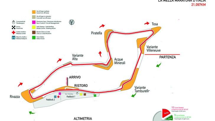 Domenica con La Mezza Maratona d'Italia si corre in autodromo di Imola