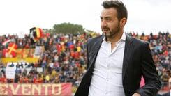 Serie A Benevento, De Zerbi: «Restiamo aggrappati alla salvezza»