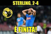 Il Manchester City ne fa 4 al Napoli e il web non perdona