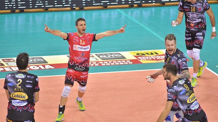 Volley: Superlega, comandano in due: Perugia e Modena