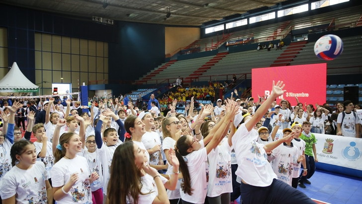"""Volley: Una festa per 2500 la tappa  """"Gioca Volley S3… in sicurezza"""" di Bari"""