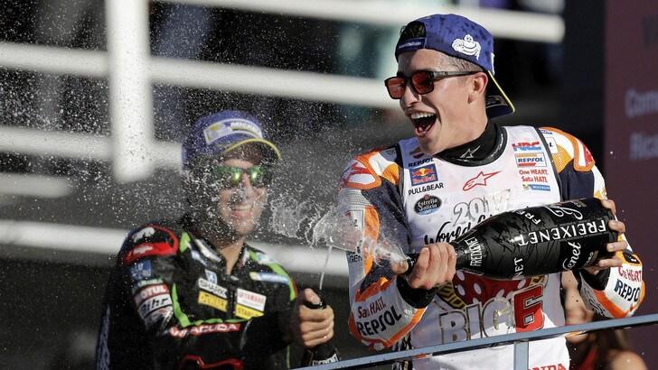 MotoGp, Marquez: «E' andata bene, grande Dovizioso!»
