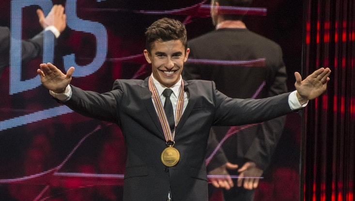 Marquez premiato al galà dei campioni