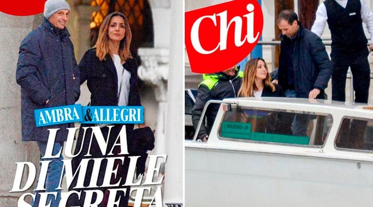 Ambra e Allegri sempre più innamorati: 'luna di miele' a Venezia