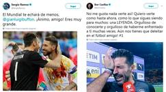Il mondo del calcio abbraccia Buffon: «Sei una leggenda»