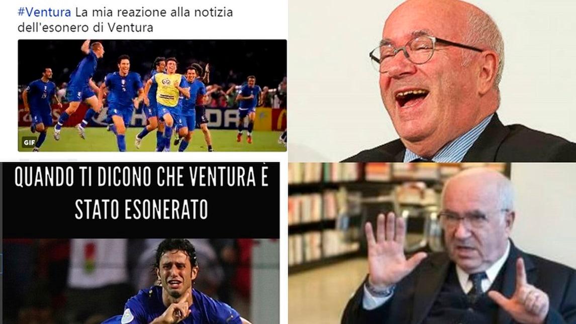 Ventura esonerato, Tavecchio resta: i social tra rabbia e ironia