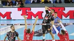 Volley: Superlega, la Lube se la vede brutta ma alla fine batte Piacenza