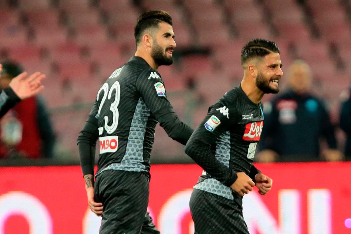 Napoli-Milan 2-1,Insigne e Zielinski affondano Montella