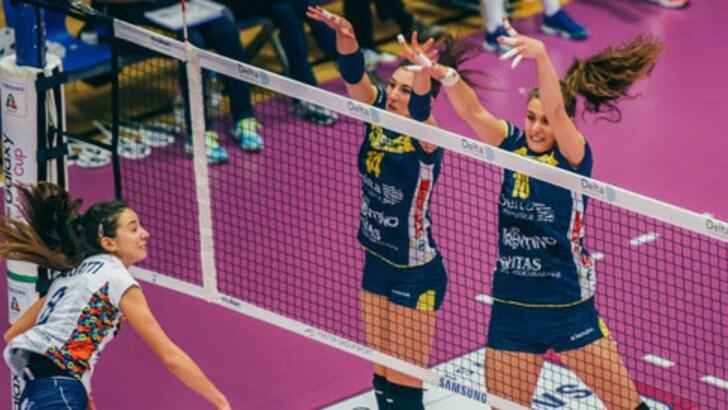 Volley: A2 Femminile, la Battistelli supera Trento al tie break