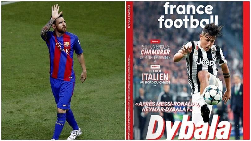 Juventus, Dybala a France Football: «Sogno il Pallone d'oro come Messi e Neymar»