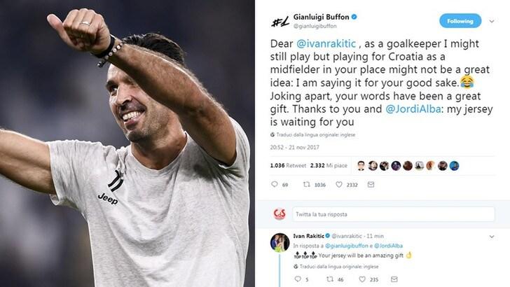 Buffon ringrazia Rakitic: «Io al tuo posto? Non una grande idea»