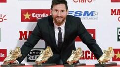 """Messi sempre più nella storia: quarta scarpa d'oro per la """"Pulce"""""""