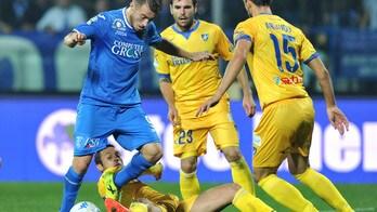 Serie B Empoli-Frosinone, Caputo riacciuffa il risultato nel finale. Finisce 3-3