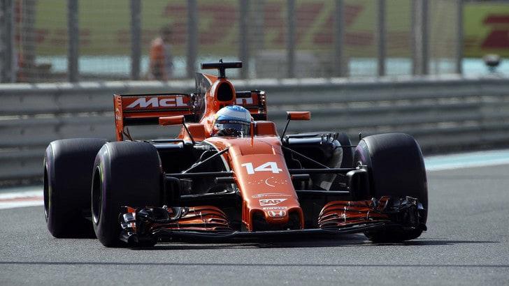 F1 Abu Dhabi: incidente nei test per Alonso