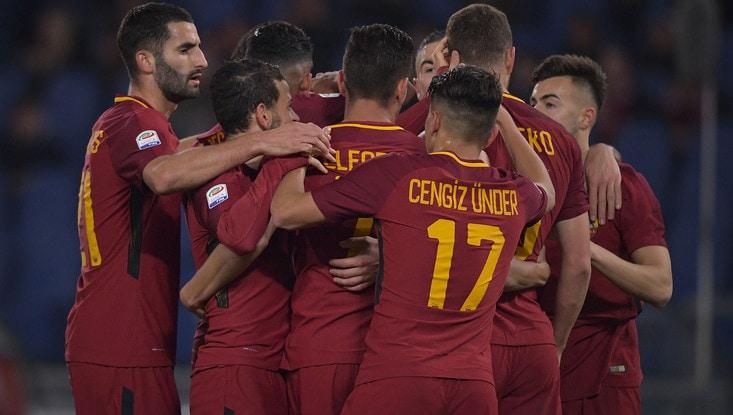 Roma-Spal, la partita all'Olimpico