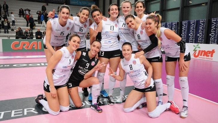 Volley: A2 Femminile, Cuneo batte il Club Italia e torna in testa